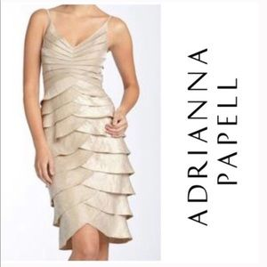 Adrianna Papell Formal Tiered Dress 2 piece D136